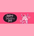 valentines day pink milkshake drink web banner vector image