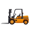 Yellow Forklift Loader Truck Isolated on White vector image vector image