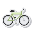 bicycle vehicle sport isolated icon vector image