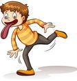 Boy with a big tongue vector image