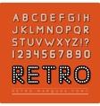 Retro marquee font vector image