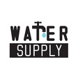 Water icon with tap faucet and drop vector image