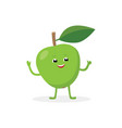 apple cartoon character isolated on white vector image