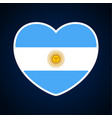 argentina flag in a shape heart icon flat vector image vector image