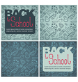 back to school backgrounds vector image vector image