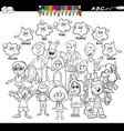 basic colors coloring book with children vector image vector image