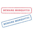 beware mosquito exclamation textile stamps vector image vector image