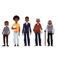 Black men of different ages from youth to maturity vector image