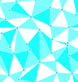 Blue triangle pattern vector image