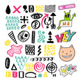 bright memphis textures collection set for design vector image vector image