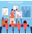 Business Training Template vector image vector image