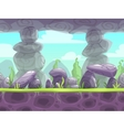 Cartoon fantasy seamless landscape vector image vector image