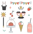 Children party icon - cute vector image vector image