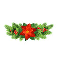 christmas poinsettia flower realistic vector image