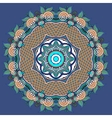 circular decorative geometric pattern for yoga vector image