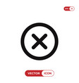 close icon delete remove cancel exit symbol vector image