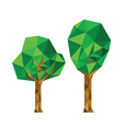 Collection of 2 different origami trees vector image