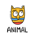 colorful doodle owl in trendy style little animal vector image vector image