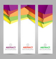 colorful polygonal abstract banner vector image vector image