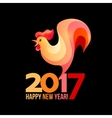 colorful poster a rooster isolated on black vector image