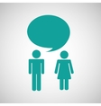 couple talking vector image