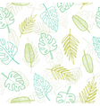 Cute doodle tropical pattern vector image vector image