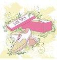 Decorative fashion mens shoes vector image