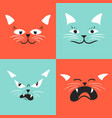 draw face cat set vector image