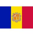 Flag of Andorra vector image vector image