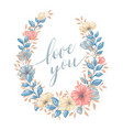 floral love wreath vector image vector image