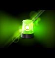 Green siren flasher lamp urgency ambulance siren