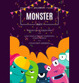 halloween party invitation poster with vector image vector image