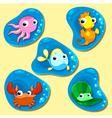 Happy sea family vector image vector image
