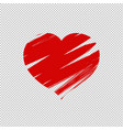 heart isolated transparent background vector image