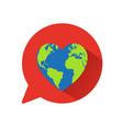 heart world globe concept vector image vector image