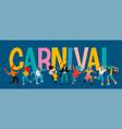 hello carnival funny vector image