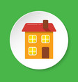 house icon in flat style on round button vector image