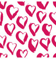 ink heart pattern vector image