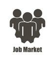 job market logo icon flat design white background vector image vector image