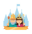 king and crown design vector image vector image