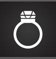 love wedding ring on black background vector image