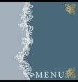 menu19 vector image vector image