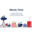 movie background with cinema attributes seamless vector image vector image