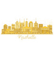 nashville tennessee city skyline golden silhouette vector image vector image