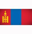 National flag of Mongolia vector image vector image