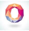 Number zero in modern polygonal crystal style vector image