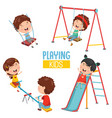 of kids playing vector image