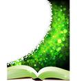 Open magic book vector image vector image
