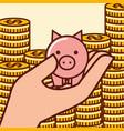 piggy bank money vector image vector image