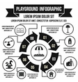 Playground infographic elements simple style vector image vector image